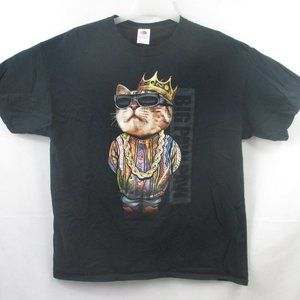 BIG PAW BIGGIE SMALLS COOGI CAT BLACK T-SHIRT